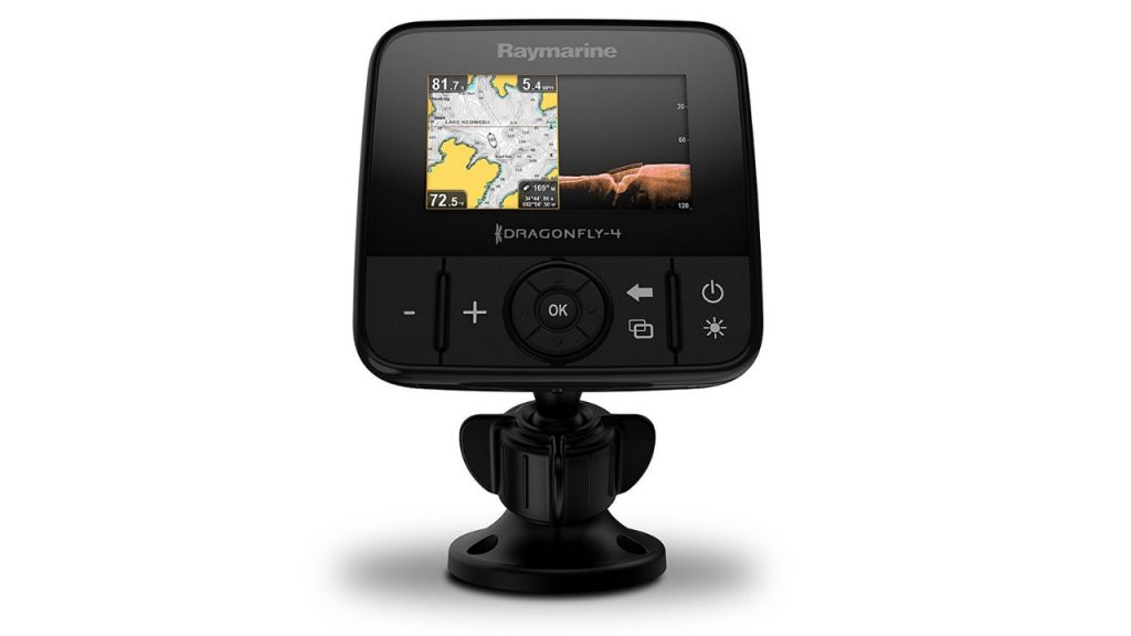 Best Kayak Fish Finders - Raymarine Dragonfly Pro Chirp Fish Finder with Built in GPS and WiFi with Navionics 1