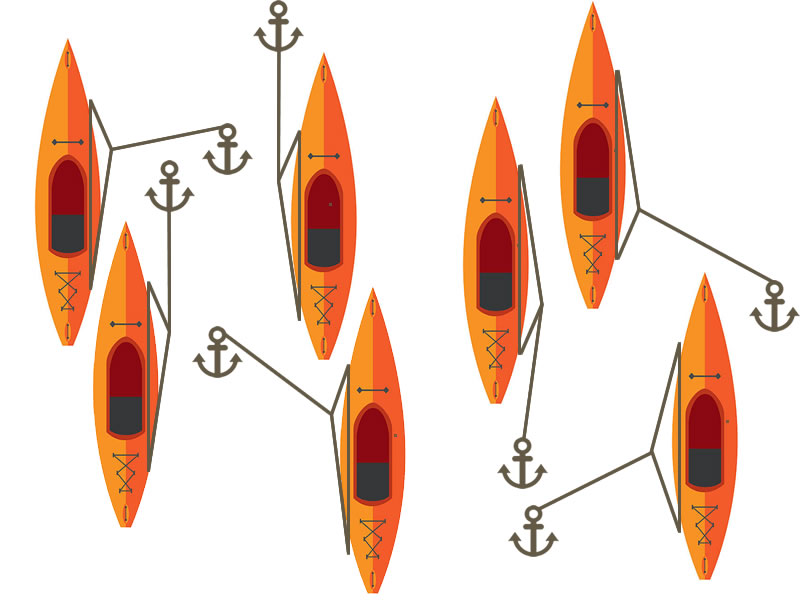 Kayak Anchor Trolley Illustration