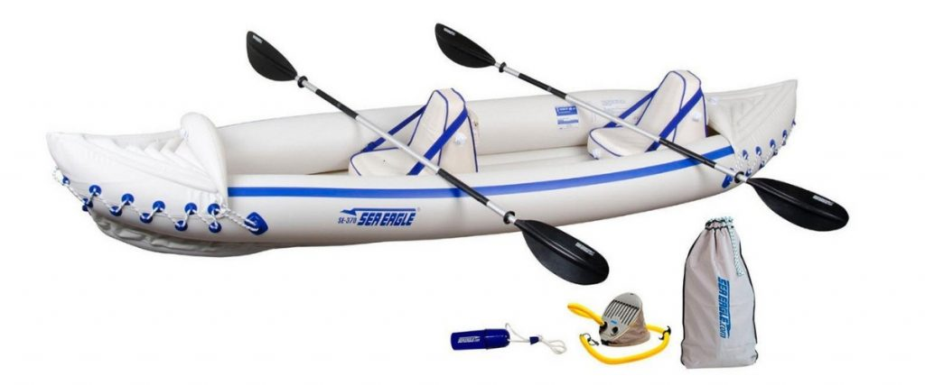 Top Inflatable Kayaks Sea Eagle SE370 Inflatable Sport Kayak Pro Package