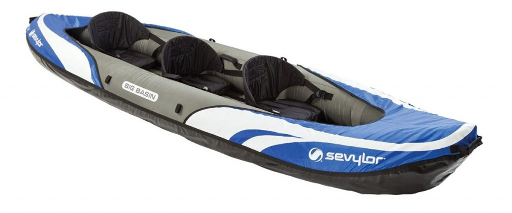 Top Inflatable Kayaks Sevylor Big Basin 3-Person Kayak