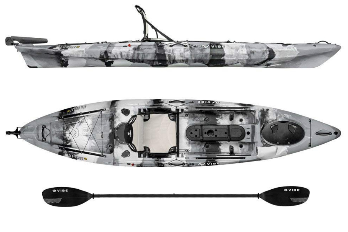 Best Fishing Kayaks - Vibe Kayaks Sea Ghost 130 Angler Kayak