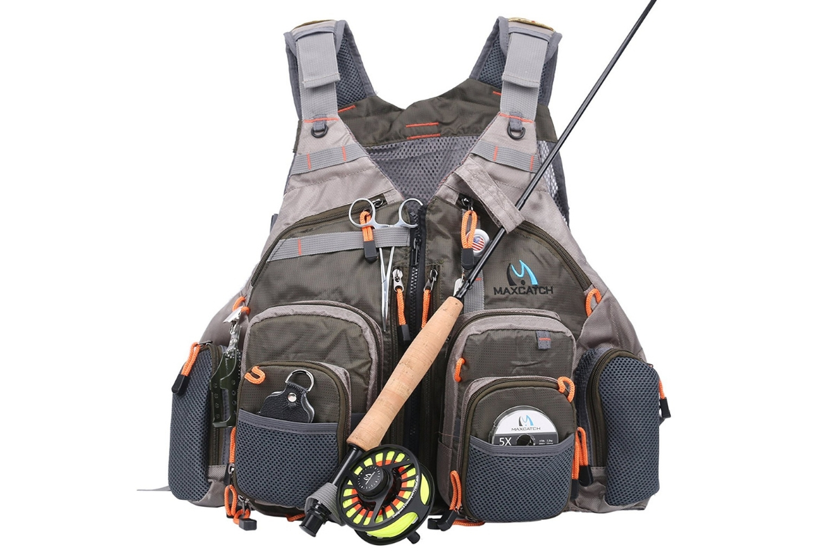 M MAXIMUMCATCH Maxcatch Fly Fishing Vest Pack