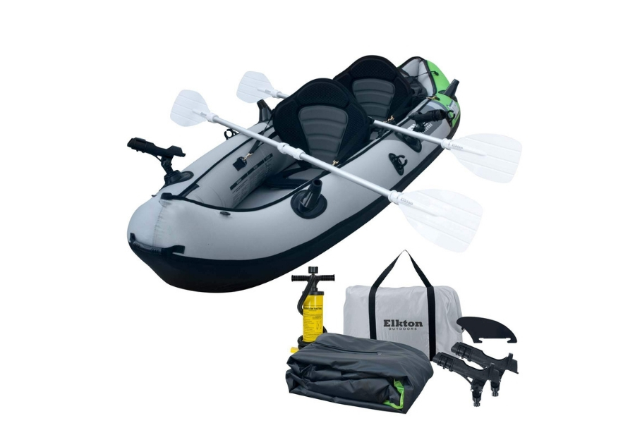 Elkton Outdoors Comorant Two-Person Kayak, 10' 2 Inflatable F